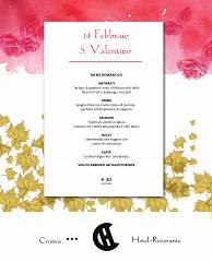 Cena romantica di s. valentino