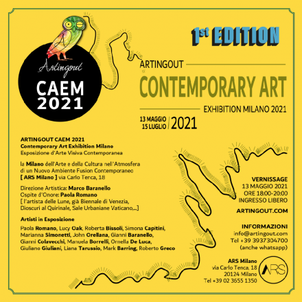 Artingout caem 2021 - contemporary art exhibition milano