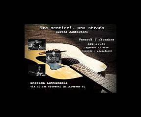 Tre sentieri, una strada: cantautori in concerto. domenico pompilio, simone ruggiero, simo