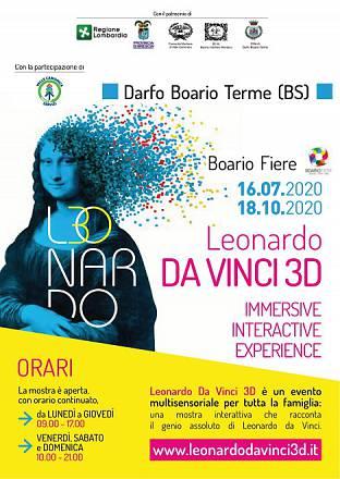 Leonardo da vinci 3d, Darfo boario terme (2020)