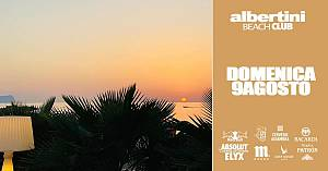 Domenica 9 agosto albertini beach club sunset & atmosfear