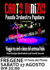 Iv festa del pinolo di fregene concerto piccola orchestra musica popolare cdi