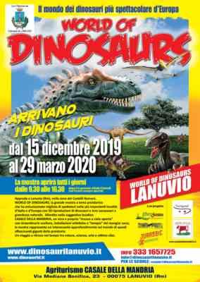 World of dinosaurs - la mostra itinerante più grande d'europa dal 15 dicembre a lanuvio