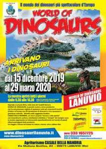 World of dinosaurs - la mostra itinerante piu' grande d'europa dal 15 dicembre a lanuvio