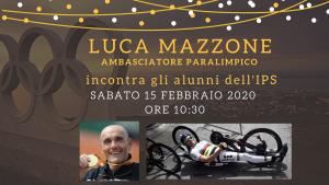 Luca mazzone ambasciatore paralimpico incontra gli studenti