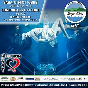 Show di magia e illusionismo con heart illusion