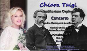 Chiara taigi � concerto  verdi e mascagni si incontrano... -  auditorium orpheus - torino