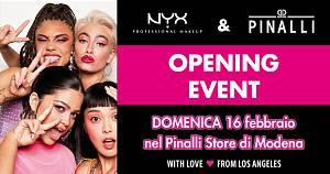 Inaugurazione corner nyx professional makeup nel pinalli beauty store di modena