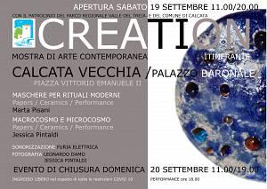 Creation mostra di arte contemporanea itinerante iv tappa al palazzo baronale di calcata c