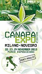 Canapa expo 2019, dal 22 al 24 novembre al parco esposizioni novegro di milano