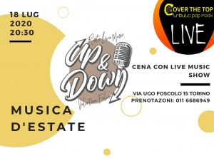 Musica d'estate dal vivo all'up&down by cover the top