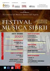 Festival musica sibrii 2020 - ix festival di musica antica del seprio