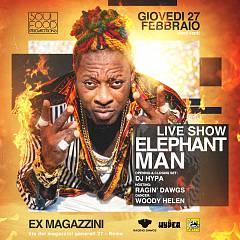 La dancehall di elephant man torna nella capitale, giovedi' 27 febbraio dal vivo agli ex m
