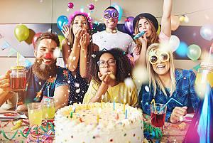 Il tuo compleanno con i tuoi migliori amici!
