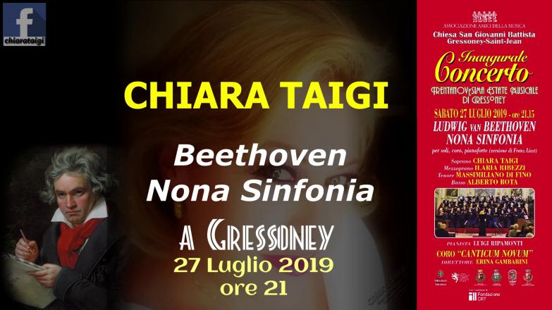Concerto inaugurale - xxxixª estate musicale di gressoney - chiara taigi - beethoven - sinfonia n°9 - 27 luglio 2019
