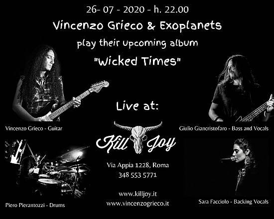Vincenzo grieco & exoplanets live @kill joy summer festival