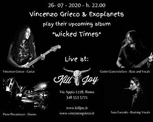 Vincenzo grieco & exoplanets live @kill joy summer festival