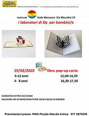 Laboratori di ely: libro pop up di carta