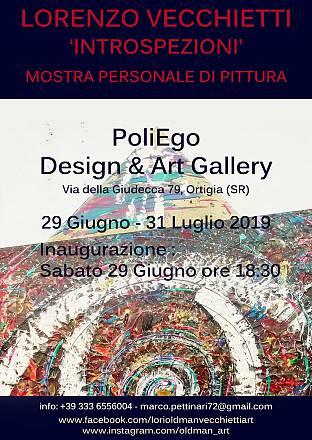 Arte, alla poliego design & art gallery la personale introspezioni di lorenzo vecchietti