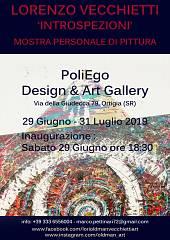 Arte, alla poliego design & art gallery la personale introspezioni di lorenzo vecchiet