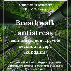 Breathwalk antistress a villa pamphili
