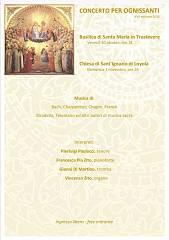 Concerto per ognissanti xvi edizione