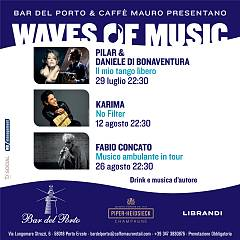 waves of music  drink e musica d'autore sotto le stelle