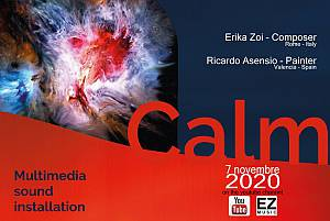 Calm multimedia sound installation erika  zoi composer and ricardo asensio painter