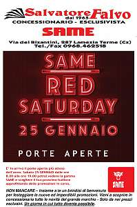 same red  saturday 25 gennaio porte aperte