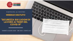 Webinar gratuito: sicurezza sui luoghi di lavoro ai tempi del covid-19