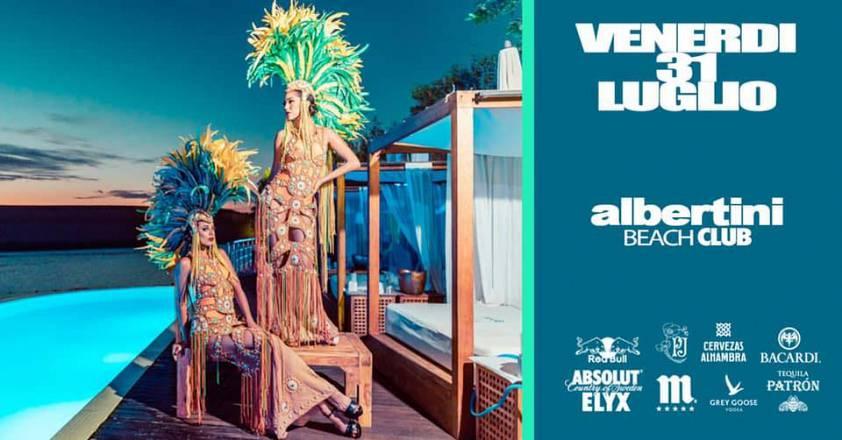 Venerdì 31 luglio albertini beach club il party anni 90
