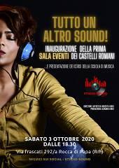 Sabato 3 ottobre studio sound inaugura  la prima sala eventi dei castelli romani