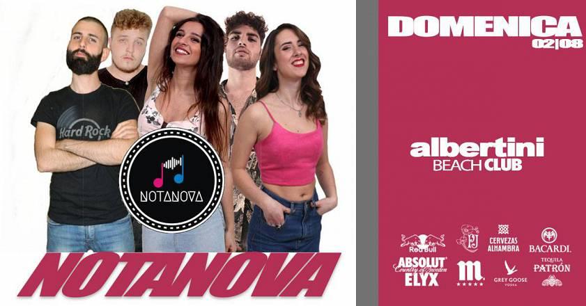 Domenica 02|08 • albertini beach club la domenica italiana notanova in concerto